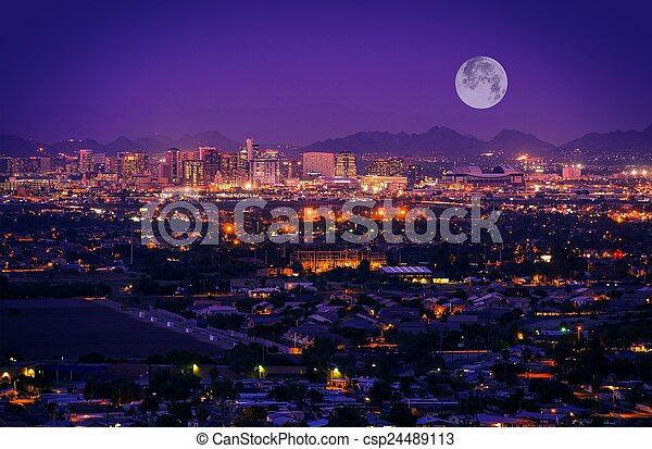 skyline, arizona, phoenix - csp24489113