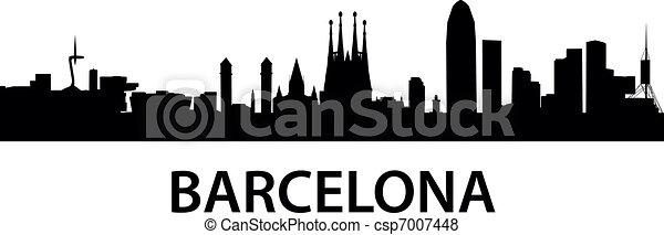 Skyline Barcelona - csp7007448