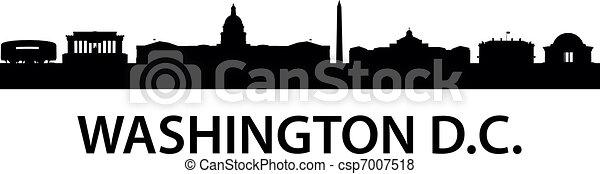 skyline, c.c. washington. - csp7007518