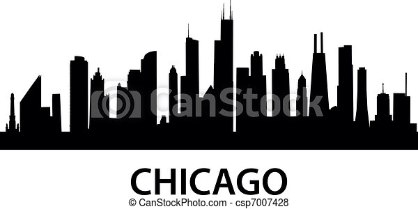 skyline chicago detailed silhouette of chicago illinois vector rh canstockphoto com chicago skyline clipart free download Chicago Black and White
