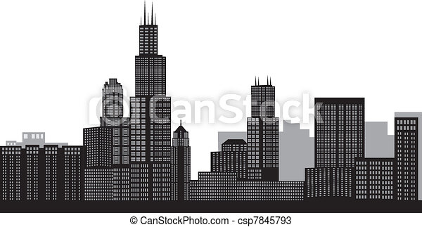 Chicago Skyline - csp7845793