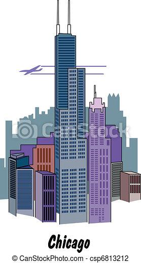 skyline., chicago, illinois - csp6813212