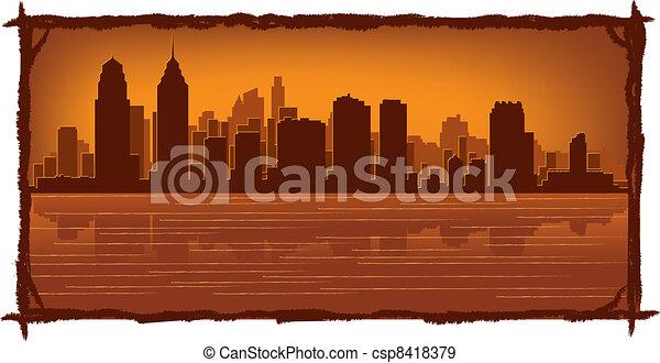 skyline, filadélfia - csp8418379