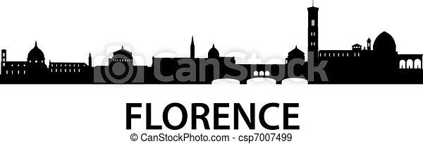 skyline, florenz - csp7007499