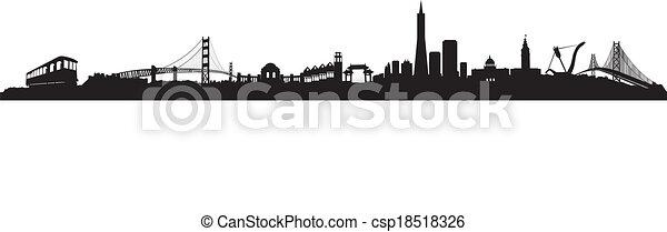 skyline, francisco, san - csp18518326