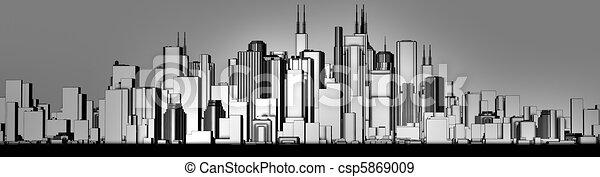 skyline grey - csp5869009