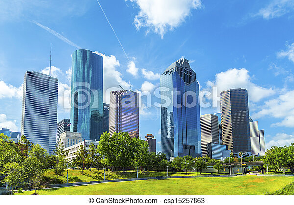 skyline, houston, texas - csp15257863