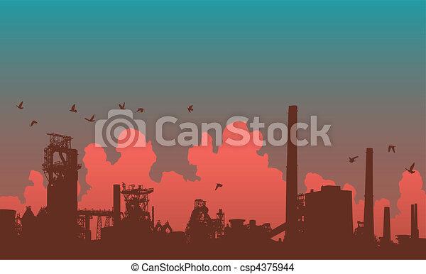 skyline, industrial - csp4375944