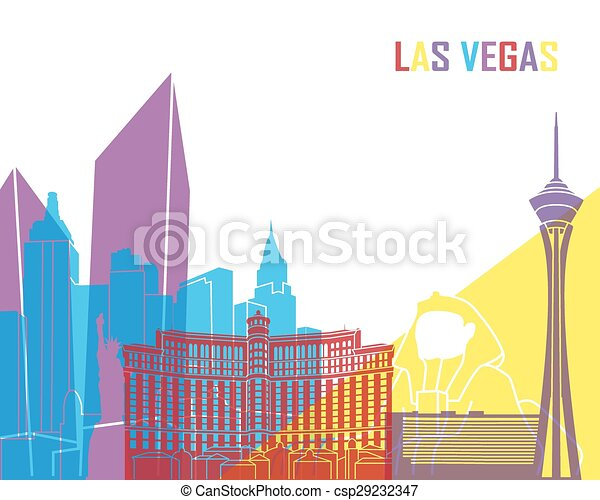 skyline, las vegas, knall, las - csp29232347