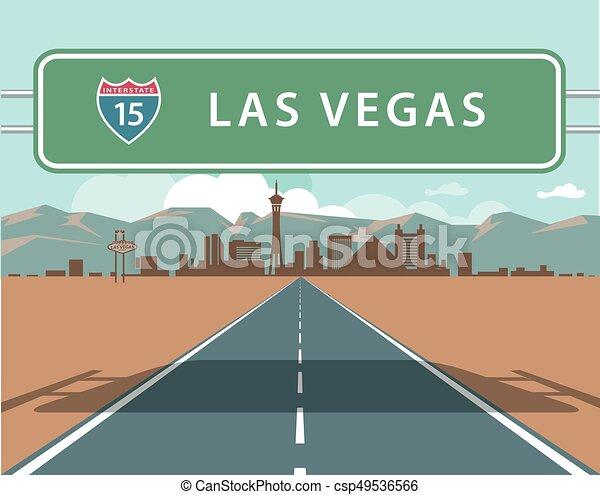 Las Vegas Skyline - csp49536566