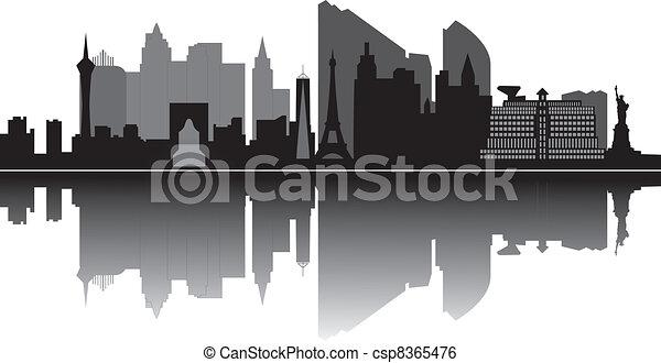 skyline, las vegas, las - csp8365476