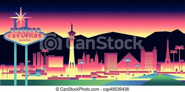 Las Vegas Skyline - csp49536438
