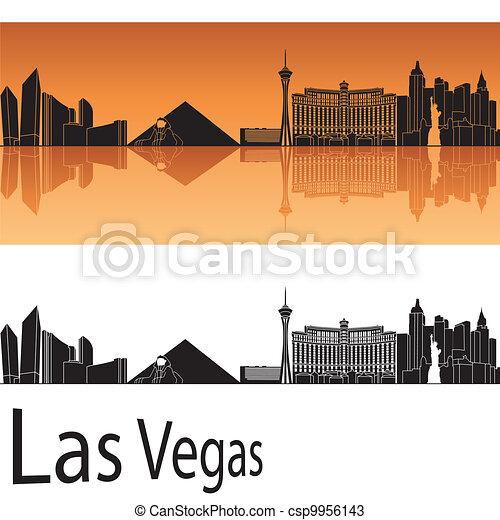 skyline, las vegas, las - csp9956143