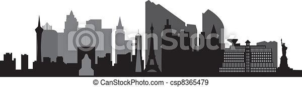 skyline, las vegas, las - csp8365479