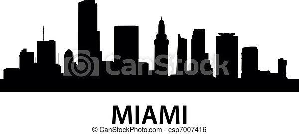 Skyline Miami - csp7007416