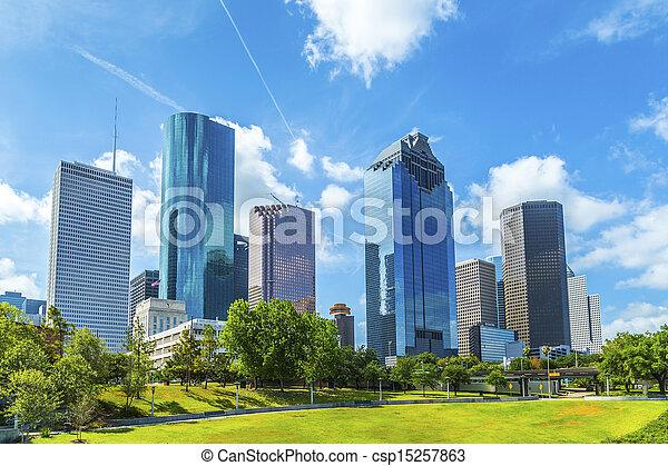 Skyline of Houston, Texas - csp15257863