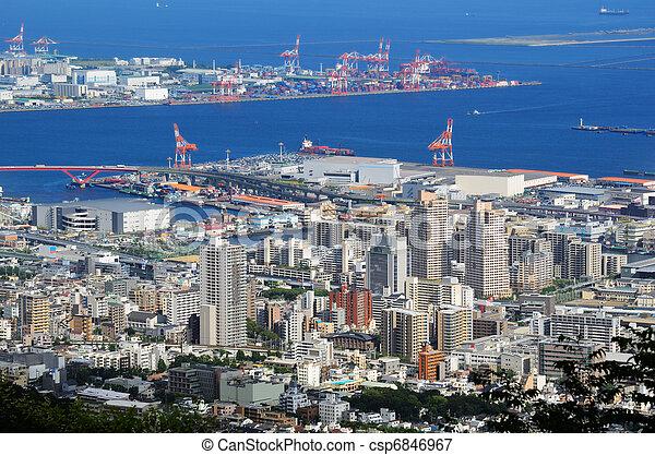 Skyline of Kobe, Japan - csp6846967