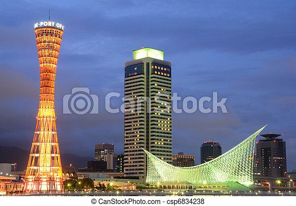 Skyline of Kobe, Japan - csp6834238