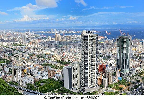 Skyline of Kobe, Japan - csp6846973