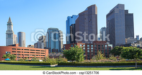 Skyline of the financial district of Boston - csp13251706