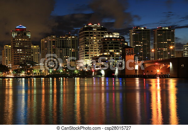Skyline of West Palm Beach, Florida - csp28015727