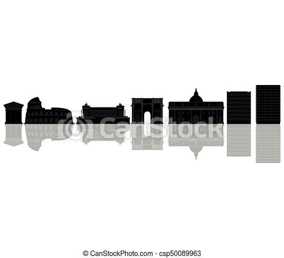 skyline roma - csp50089963