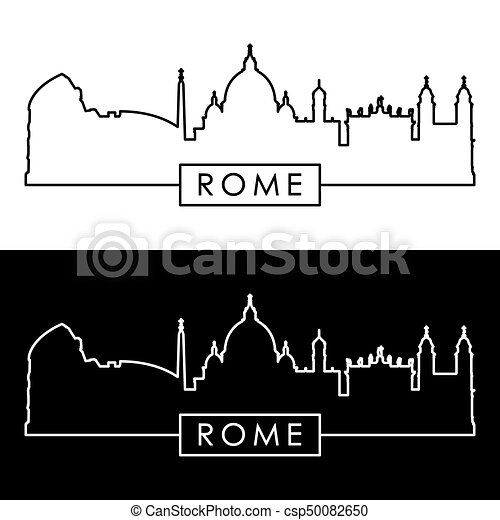 Roma Skyline. Estilo lineal. - csp50082650