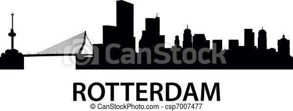 Skyline Rotterdam - csp7007477