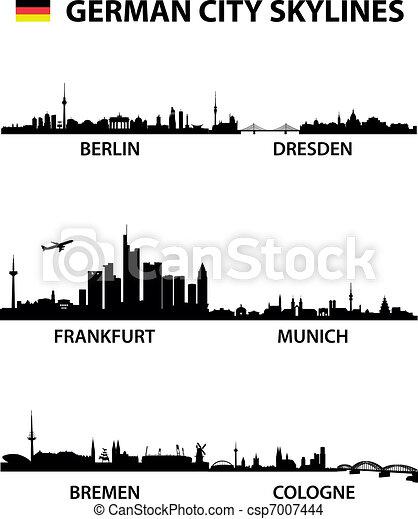 Skylines Germany - csp7007444