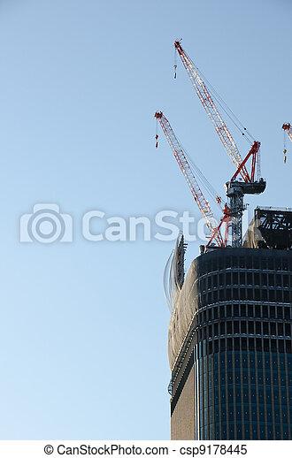 Skyscraper construction - csp9178445