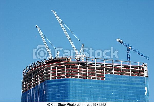 Skyscraper construction - csp8936252