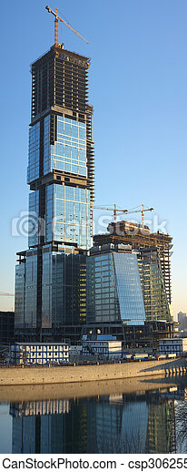 Skyscraper construction - csp3062553