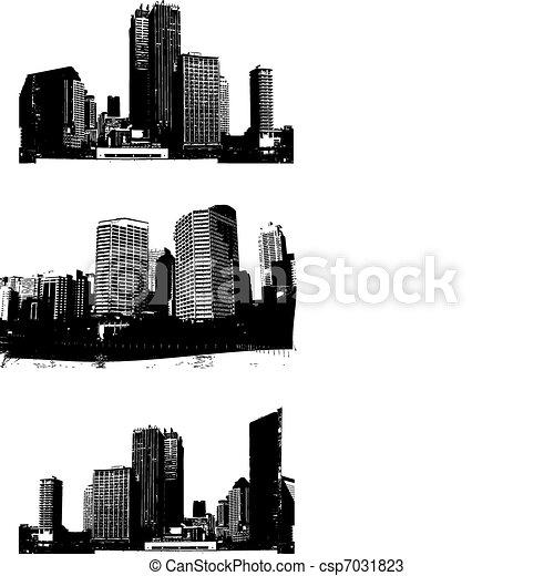 Skyscrapers. Vector - csp7031823