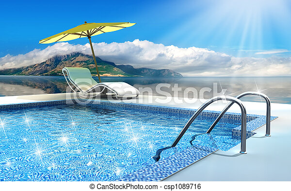 slå samman, simning - csp1089716