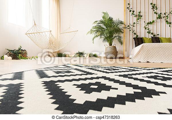 Slaapkamer Met Tapijt : Slaapkamer moderne tapijt tapijt moderne hangmat bed