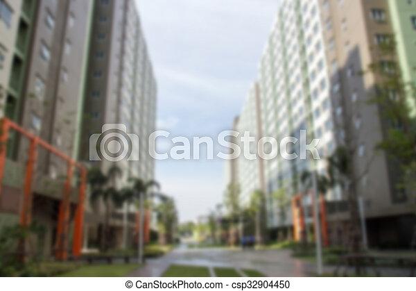 slaapzaal, gebouw, perspectief - csp32904450