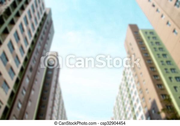 slaapzaal, gebouw, perspectief - csp32904454
