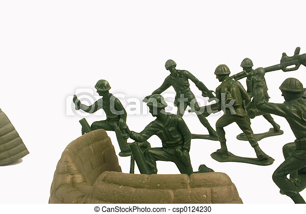 slag, soldaten, speelbal - csp0124230