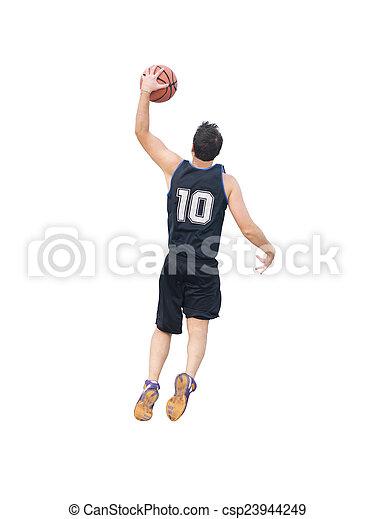 slam dunk on white background - csp23944249