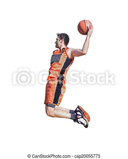 slam dunk on white - csp20055773