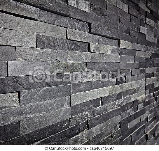Slate Wall Background   Csp46715697