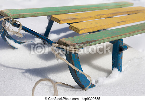 sled in the snow - csp9320685