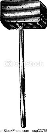 Sledgehammer, vintage engraving - csp33758481
