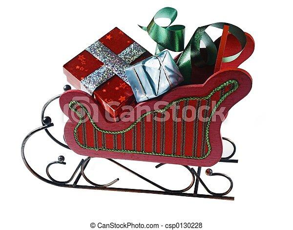 sled,presents - csp0130228