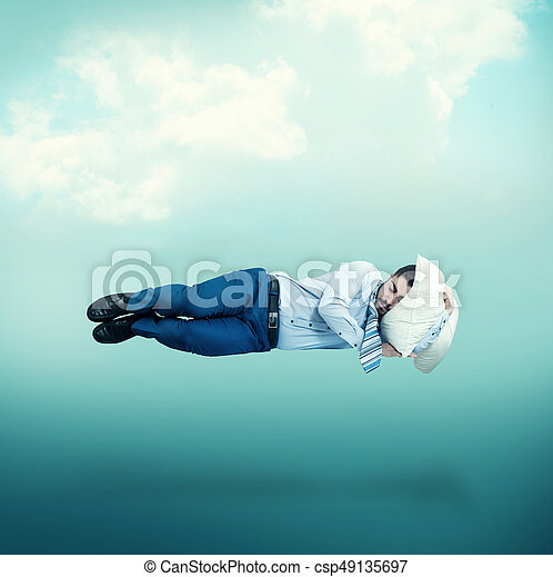 Sleep Floating Man In Mid Air While Sleeping