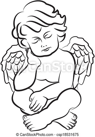 Little Baby Angel Drawing