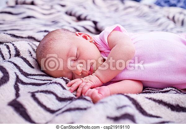 sleeping baby - csp21919110