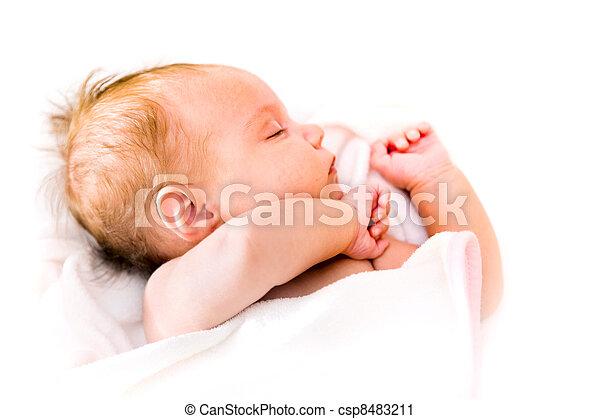 sleeping baby - csp8483211