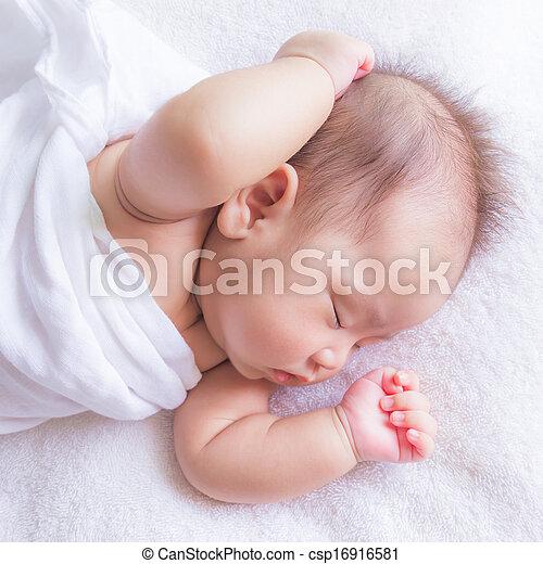 sleeping baby - csp16916581