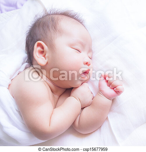 sleeping baby - csp15677959